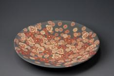 image Mumyoi dish with marbled flower design.