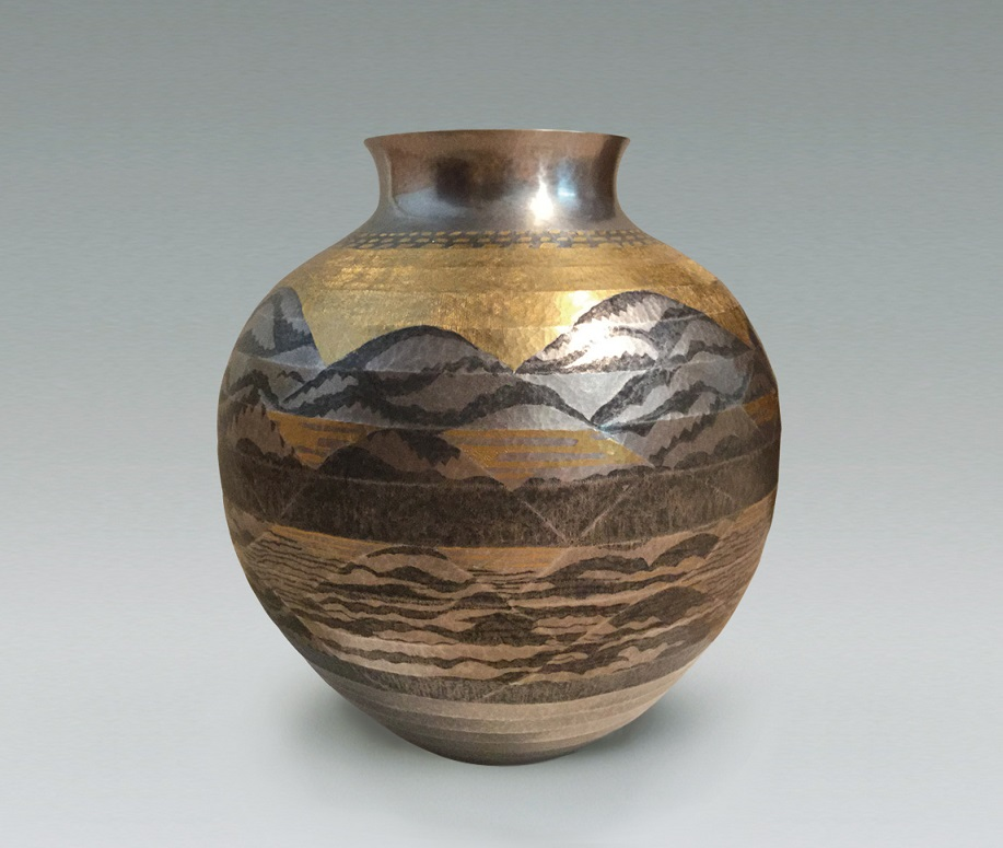 """image Forged Silver Vase """"Dawn in spring"""""""