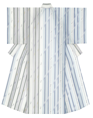 "image Kimono of float weave cloth. ""Clear and cool water"""