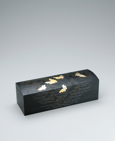 "image Iron box with design in damascene inlay. ""Flutter of butterfly's wings like music"""