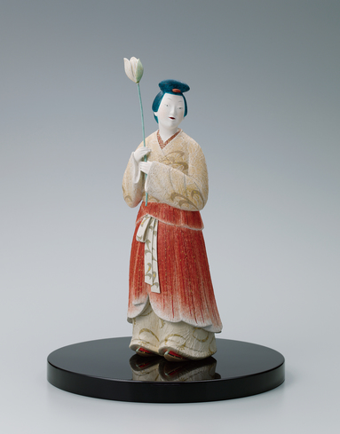 "image ""Akaiko"". Clay sculpture with polychromy."