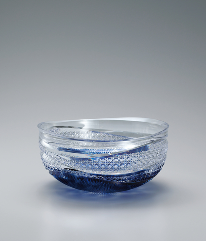 "image Cut glass bowl. ""Sound of water"""