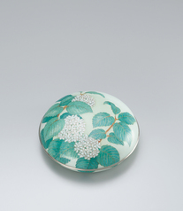 "写真:Cloisonne covered vessel. ""Japanese snowball"""