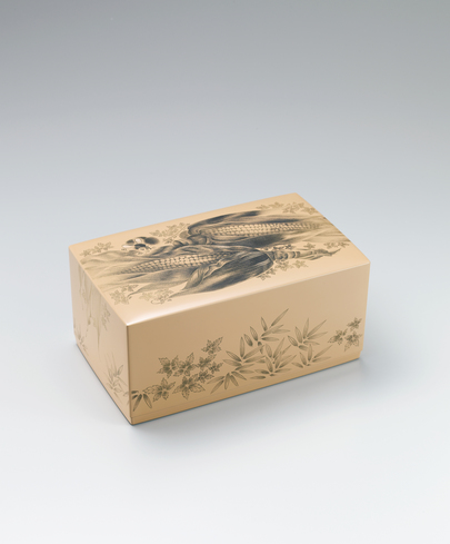"""image Box with design in chinkin. """"Autumn day"""""""