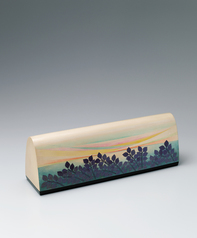 写真:Box of rantai for tanzaku with design of scenery of Setouchi in kinma.