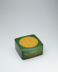 写真:Box with stonecrop design in zonsei.