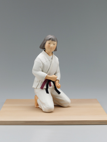 """image """"Bout"""". Formed with tōso over wooden core and covered with cloth and paper."""