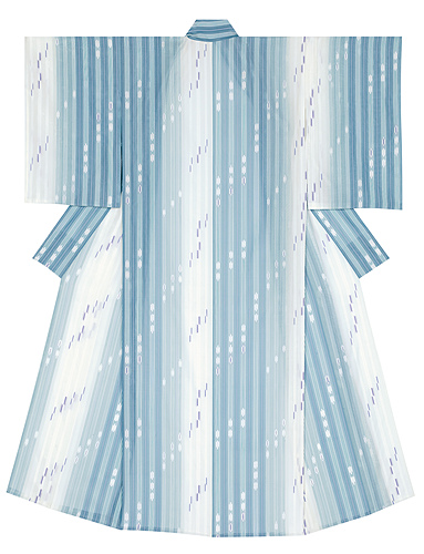 "image Kimono of float weave cloth. ""Perfect weather for Aster tataricus"""