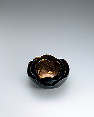 "写真:Set of kanshitsu bowls. ""Lotus flower beginning to open"""