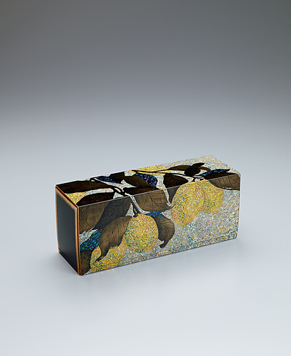 """image Box with design in irogai and makie. """"Lemon tree"""""""