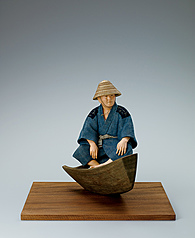 "写真:""South wind after the rainy season in Okinawa"". Formed with tōso over wooden core and covered with cloth and paper."