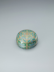 "写真:Cloisonne covered vessel. ""Flower"""