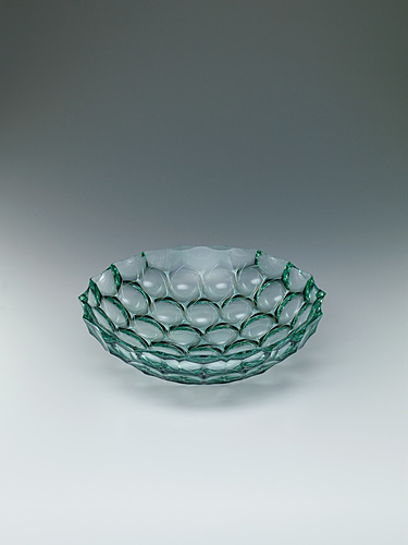 """image Laminated vessel with platinum and engraved decoration. """"Rinpū"""""""