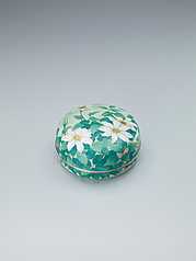"写真:Cloisonne covered vessel. ""Clematis"""