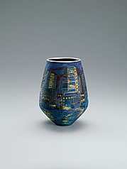 "写真:Opaque cloisonne jar. ""Twilight"""