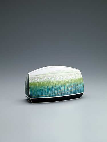 """image Cloisonne covered vessel. """"Fine autumn day"""""""