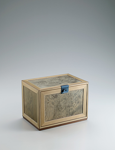 image Small chest of drawers made of jindai cedar wood.