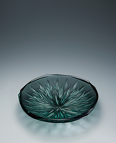 "写真:Laminated bowl with platinum and engraved decoration. ""Pure flower"""