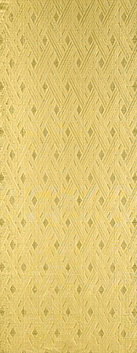 写真:Ra gauze with diagonal check design in gold threads.