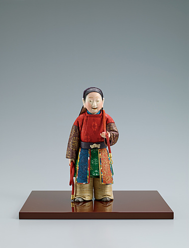 """image """"Shishi ko"""". Formed with tōso over wooden core and covered with paper."""